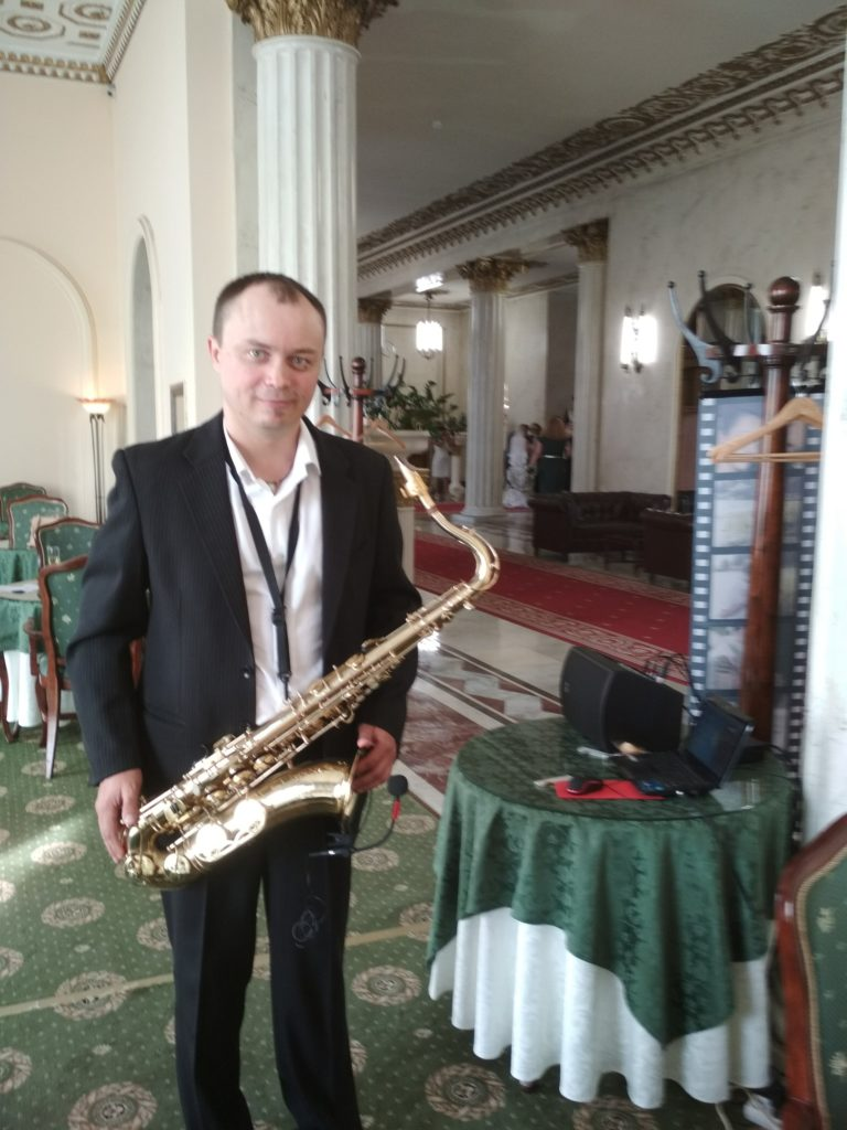 услуги саксофониста для презентации