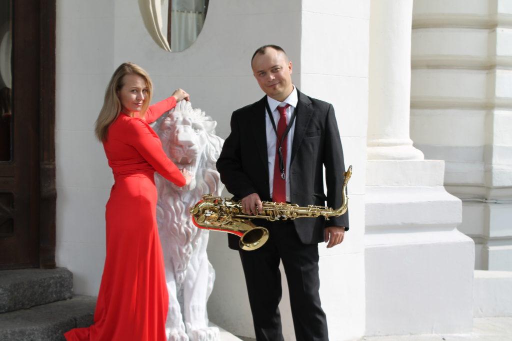 Саксофонист и певица Москва